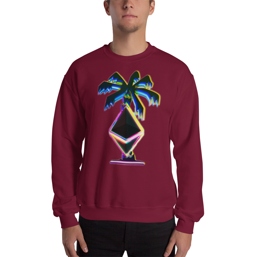 3D Ethereum Palm Tree Sweatshirt