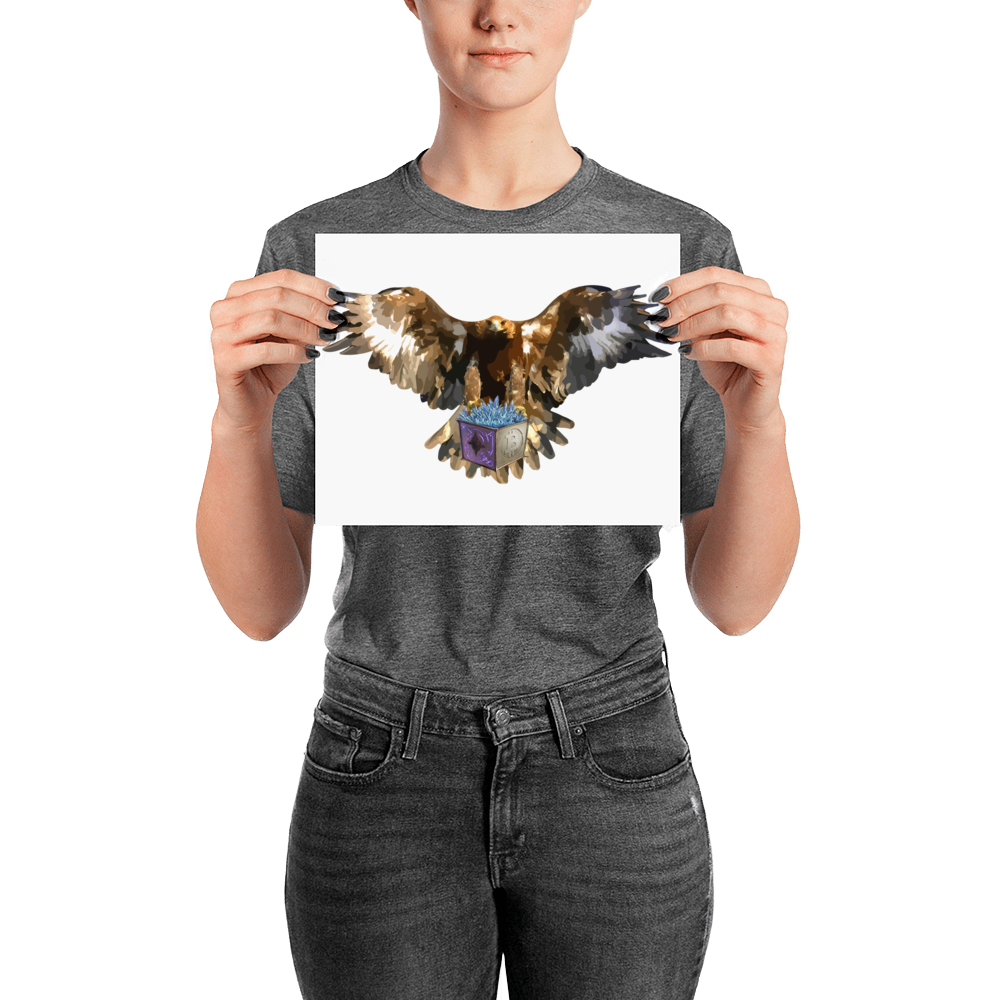 Bitcrystals Bald Eagle Poster