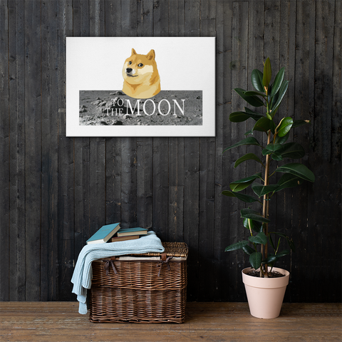 Doge To The Moon Canvas