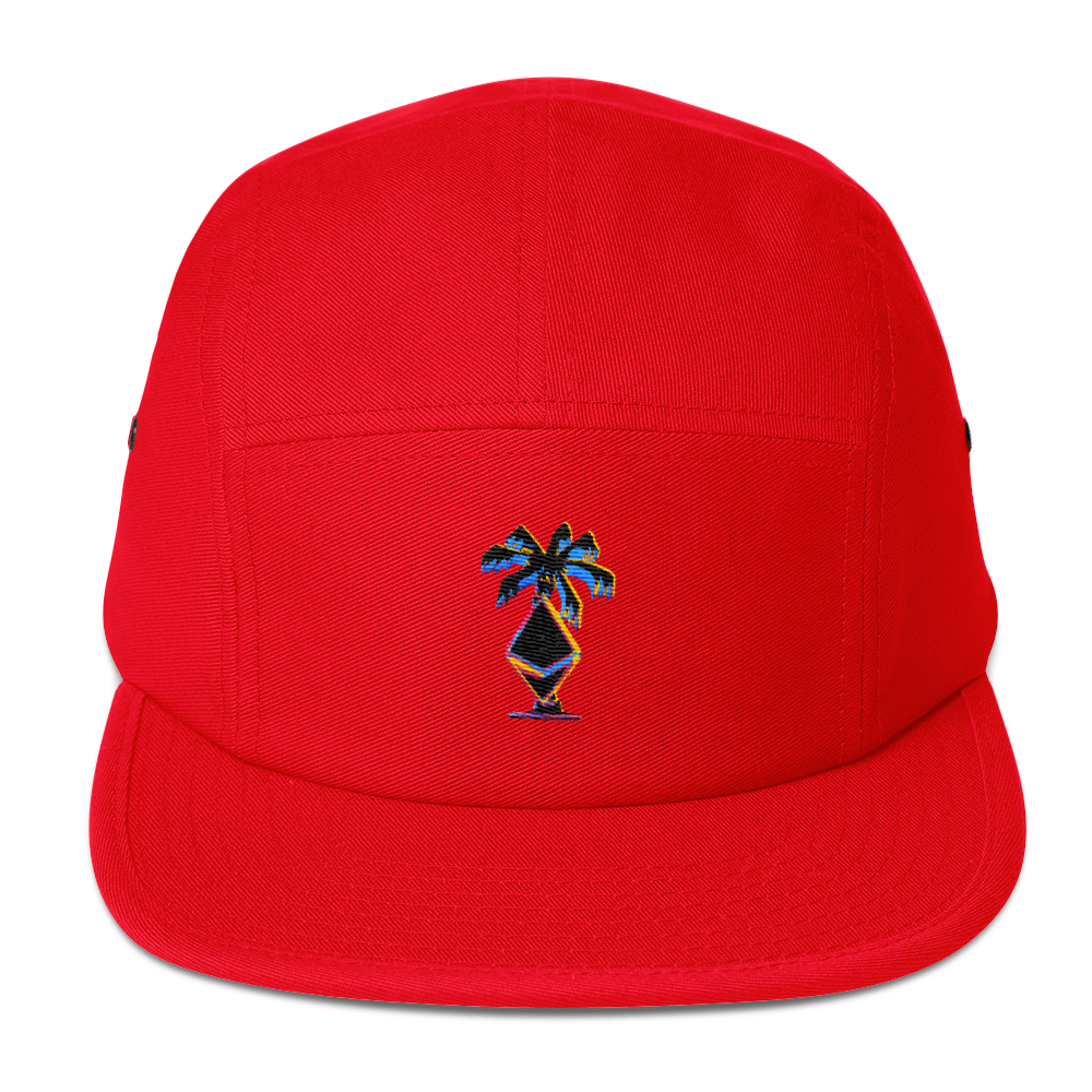 3D Ethereum Palm Tree Five Panel Cap