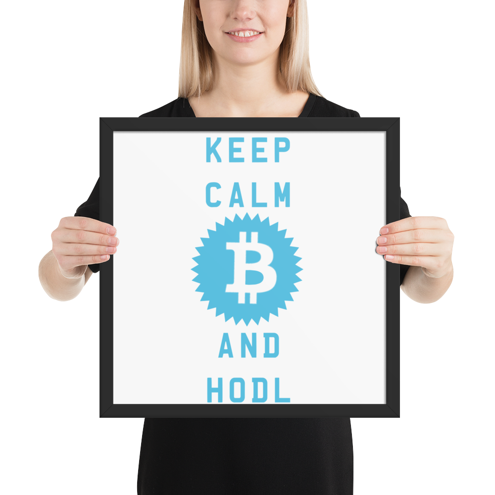 Framed Fueled By Bitcoin Poster