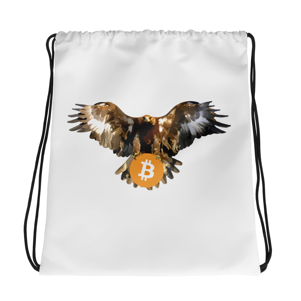Bitcoin Bald Eagle Drawstring Bag