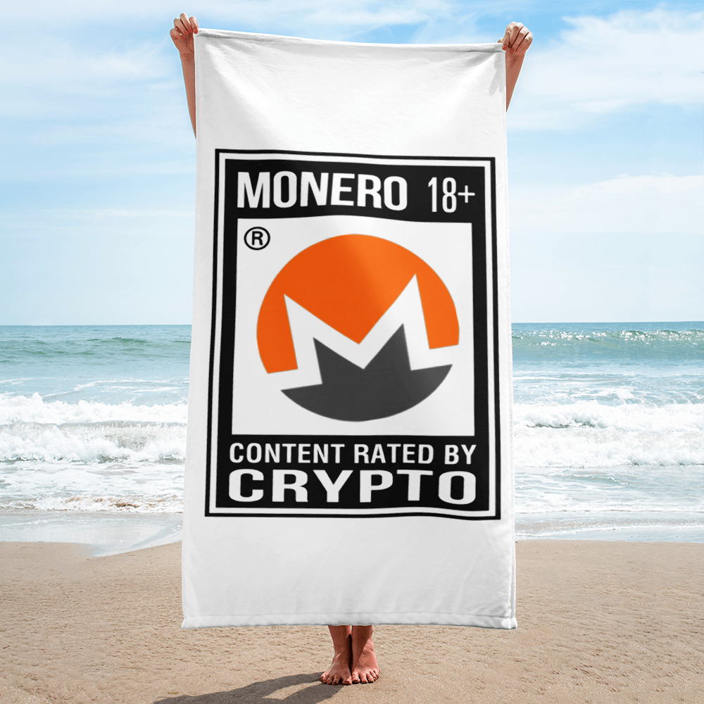 Monero Rated 18+ Towel