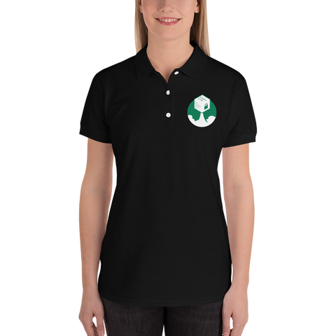 Rocket Chainlink Embroidered Women's Polo Shirt