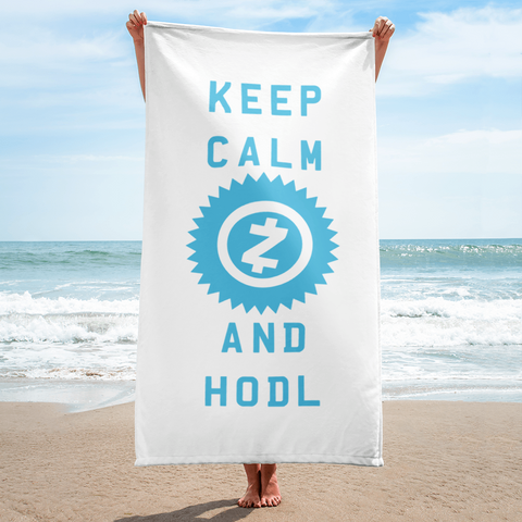 Keep Calm and HODL ZCash Towel