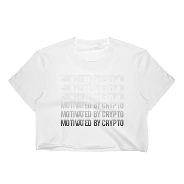 Motivated By Crypto Women's Crop Top