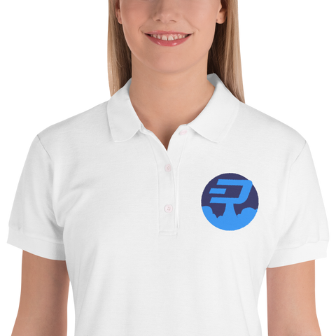 Rocket Dashcoin Embroidered Women's Polo Shirt