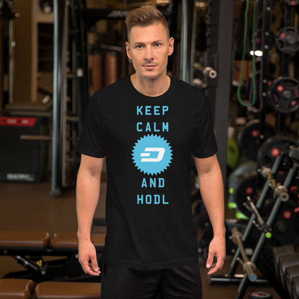 Keep Calm And Hodl Dashcoin Short-Sleeve T-Shirt