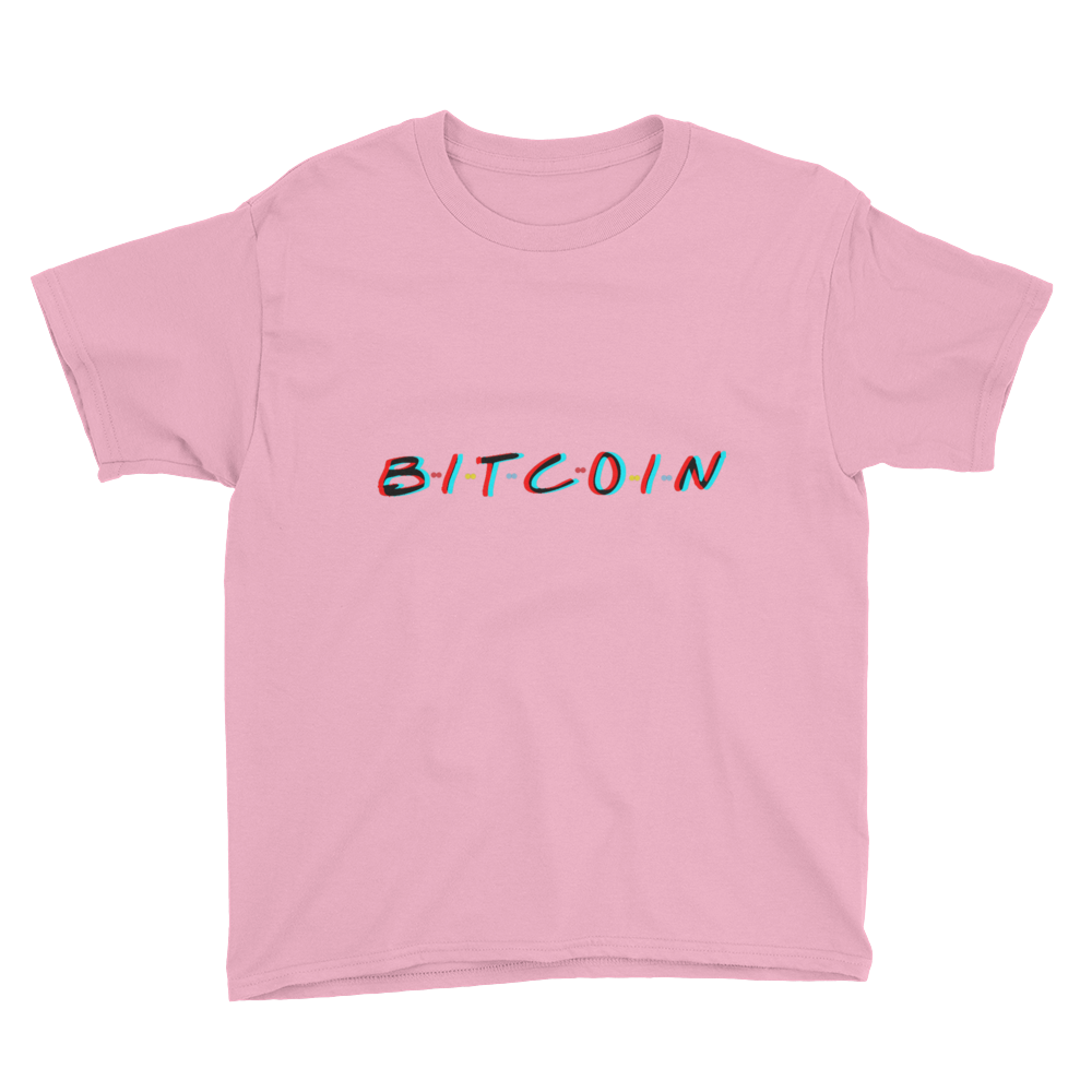 3D Bitcoin Youth Short Sleeve T-Shirt