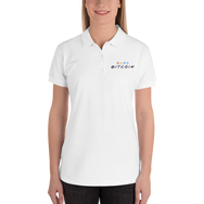 3D Zero Bitcoin Embroidered Women's Polo Shirt