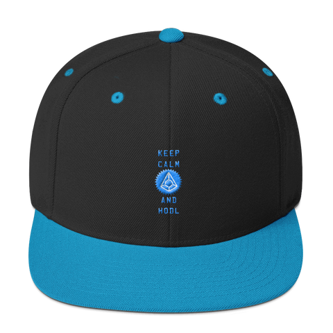 Keep Calm And Hodl Augur Snapback Hat