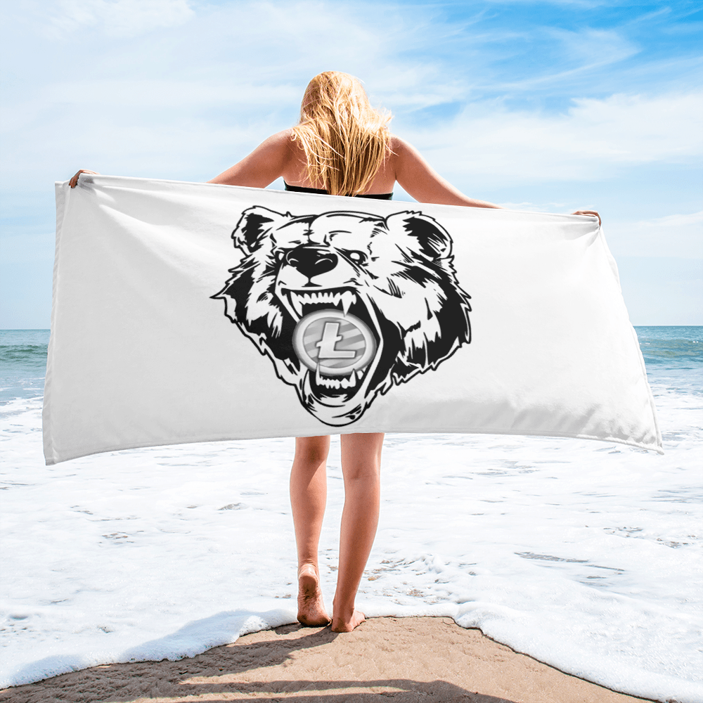 Litecoin Grizzly Bear Towel