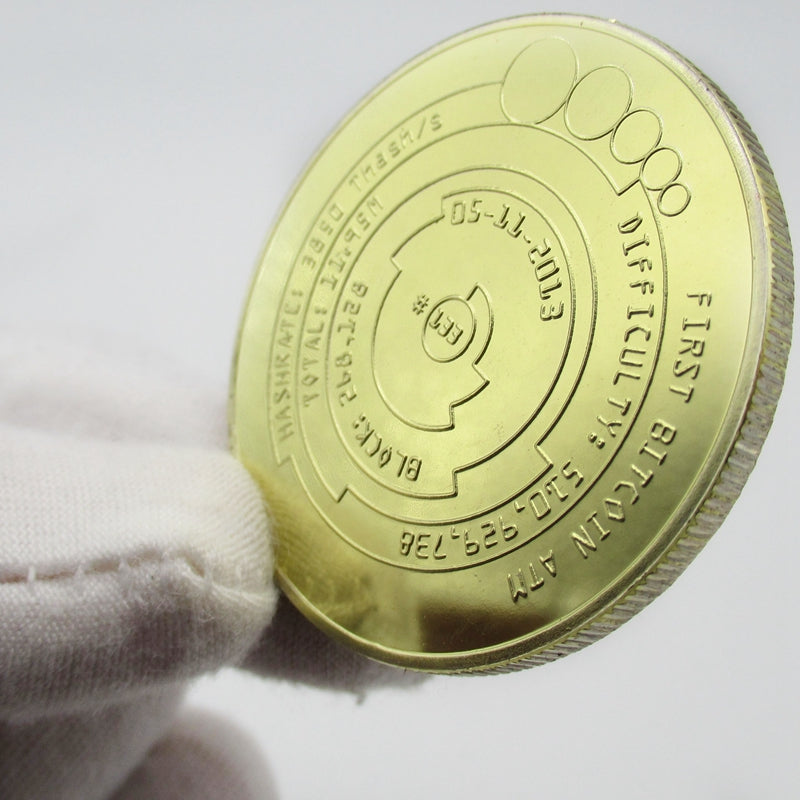 24K Gold Plated Bitcoin Commemorative Coin