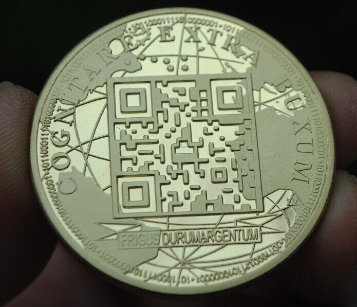 24K Gold Plated Global Bitcoin Commemorative Coin