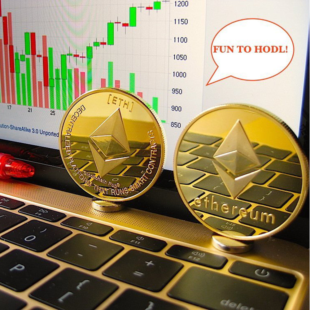 24K Gold And Silver Plated Ethereum Commemorative Coin