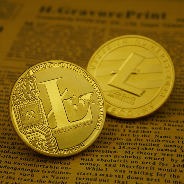 24K Gold And Silver Plated Litecoin Commemorative Coin