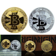 24K Gold And Silver Plated Vires In Numbers Bitcoin Commemorative Coin