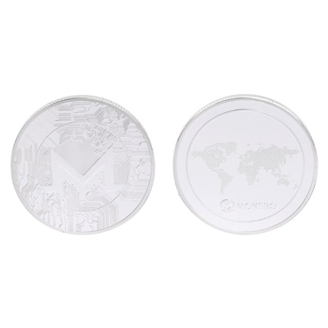24K Gold And Silver Plated Monero Map Commemorative Coin