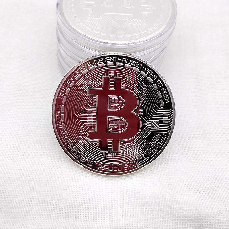 24K Gold, Silver And Bronze Plated Bitcoin Commemorative Coin