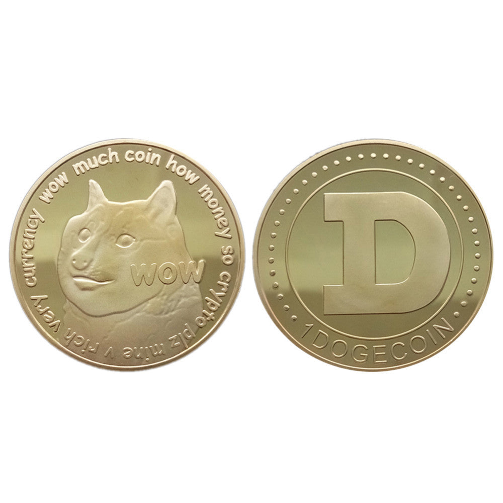 24K Gold Plated Dogecoin Commemorative Coin