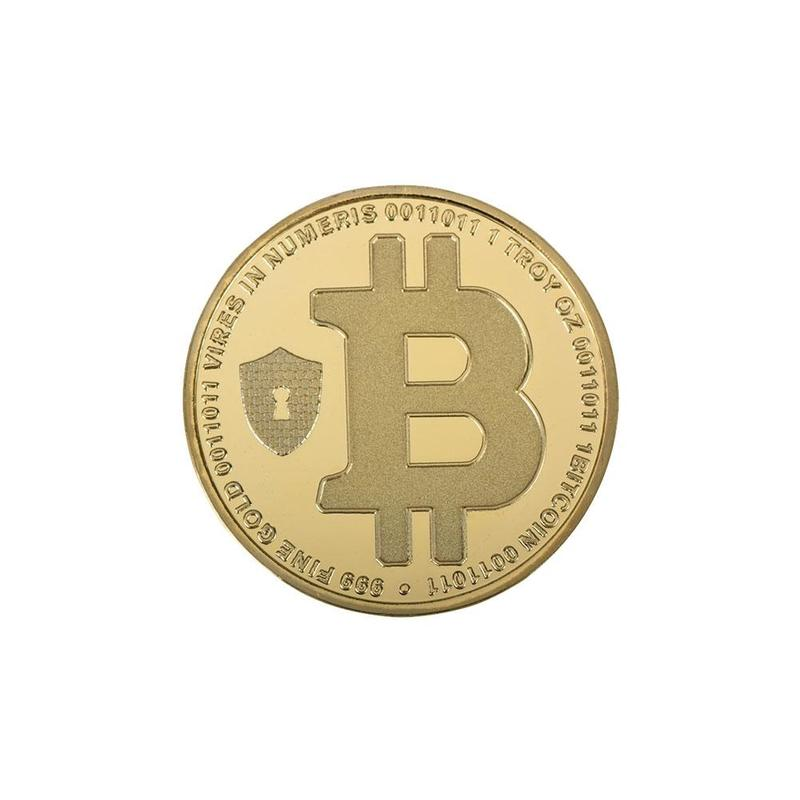 24K Gold Plated Satoshi Nakomto Bitcoin Commemorative Coin