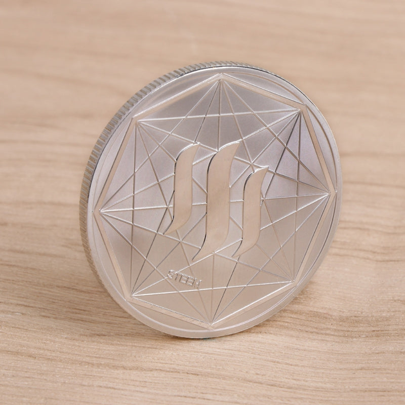 24K Gold And Silver Plated STEEM Commemorative Coin