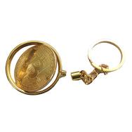 24K Gold Plated Detachable Bitcoin Keychain