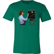 Bob Ross Crypto Night Painting T-Shirt