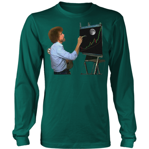 Bob Ross Crypto Night Painting Long Sleeve
