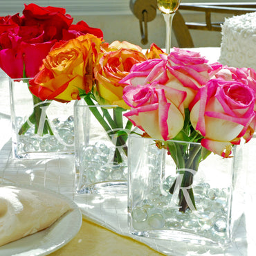Single Glass Vase Wedding Centerpiece