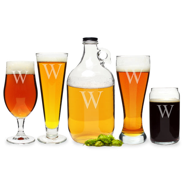 Personalized Craft Beer 5pc. Party Glassware Set