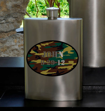 Guys Party Flask - Camo