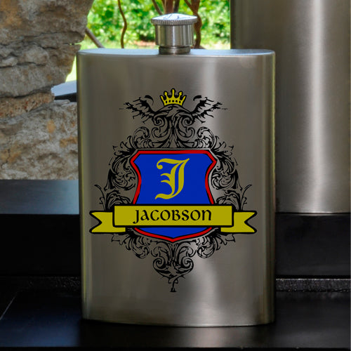 Guys Party Flask - Crest