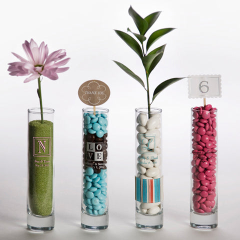 Printed Bud Vase (Pack of 24 )