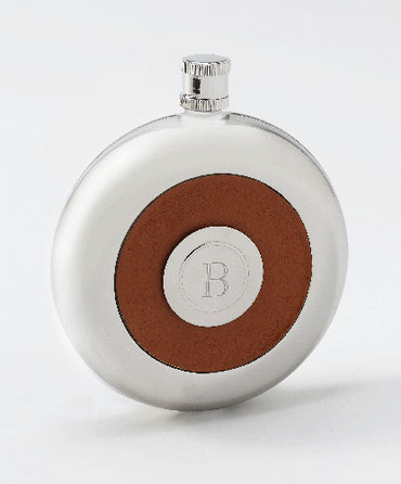 Oxford Round  Leather Flask