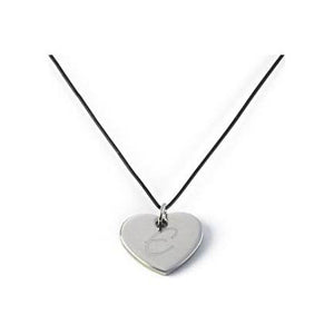 Leather Rope Heart Necklace Heart Pendant