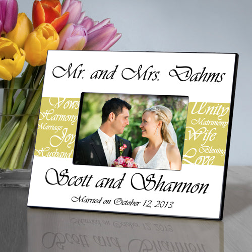 Mr. & Mrs. Wedding Frame - Mustard