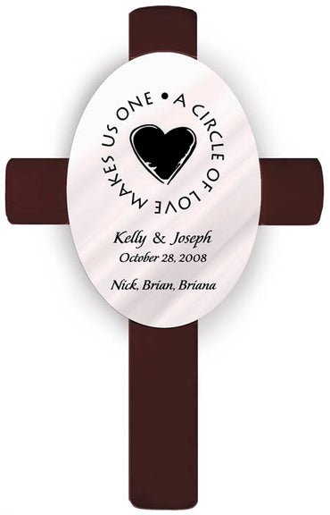 Personalized Oval Wedding Cross - H8 Second Marriage