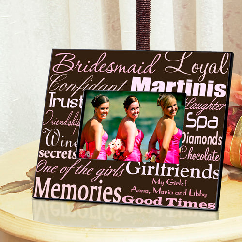 Bridesmaid Frame - Pink/Brown