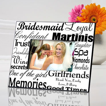 Bridesmaid Frame - Black on White
