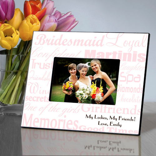 Bridesmaid Frame - Pink on White