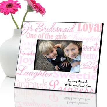 Personalized Jr. Bridesmaid Frame - Shades of Pink