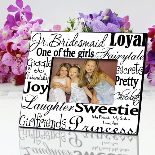 Personalized Jr. Bridesmaid Frame - Black/White