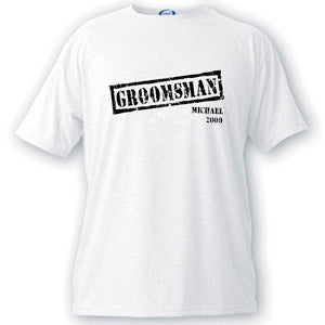 Stamp Series Groomsman T-shirt
