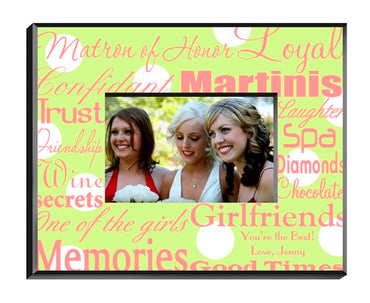 Matron of Honor Frame - Green Dots