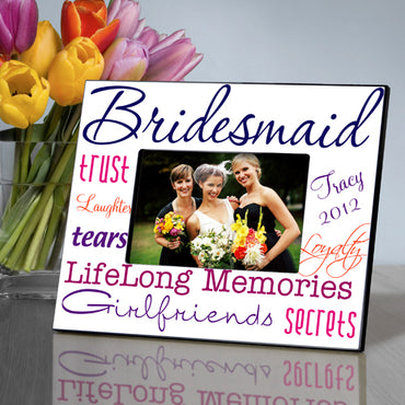 Bridesmaid Frame - Purple