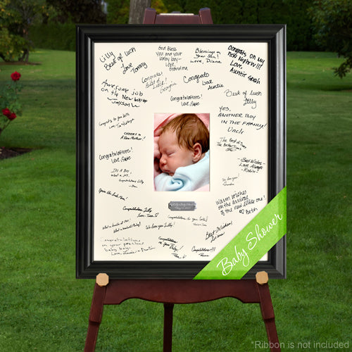 Laser Engraved Wedding Wishes Signature Frame - Baby