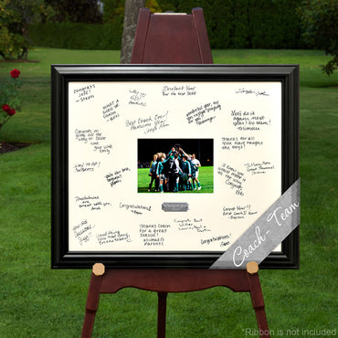 Laser Engraved Wedding Wishes Signature Frame - Coach/Team