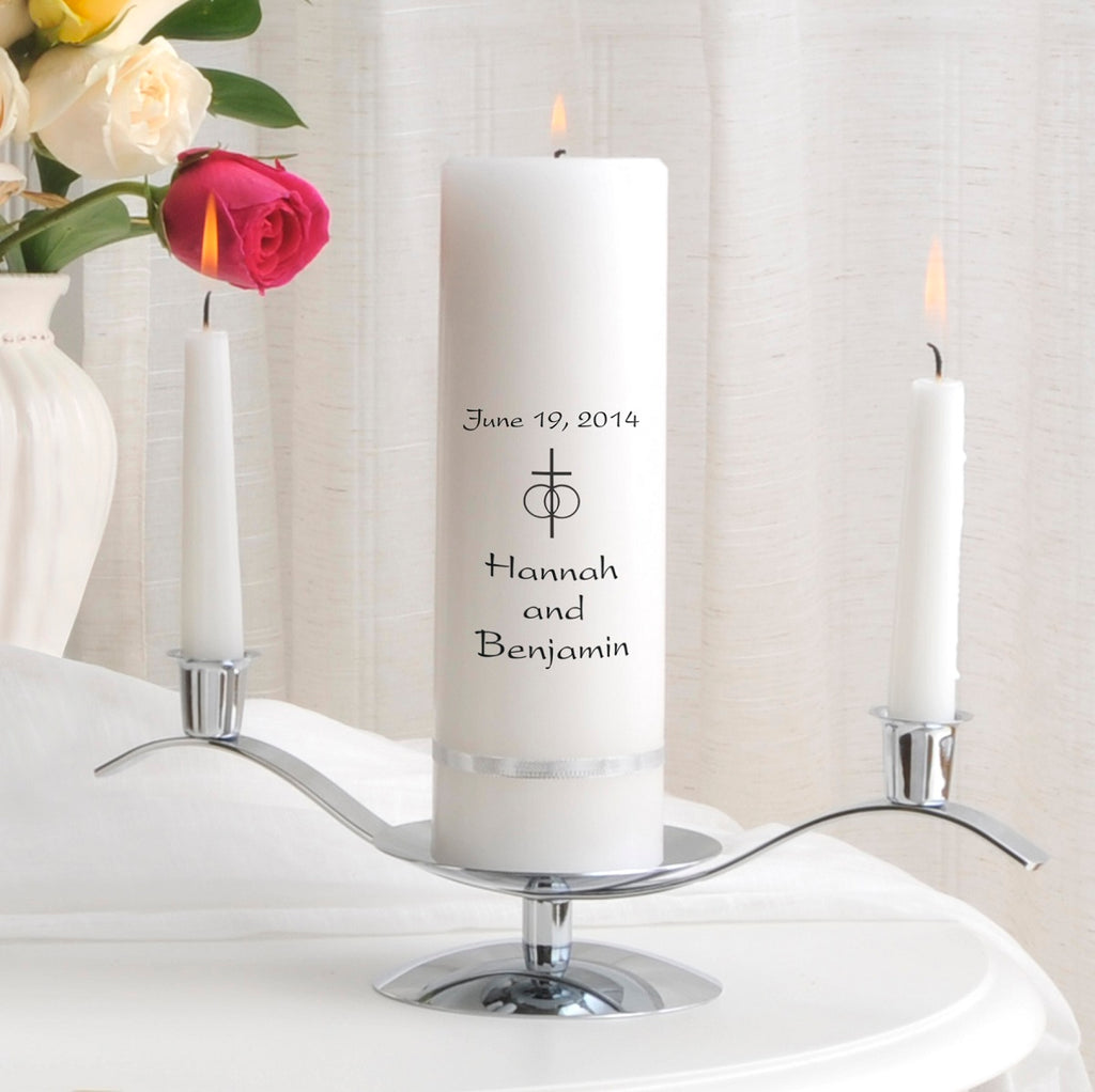 Premier Unity Candle  and Stand Combo.