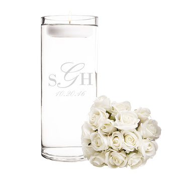 Personalized Wedding Monogram Floating Unity Candle